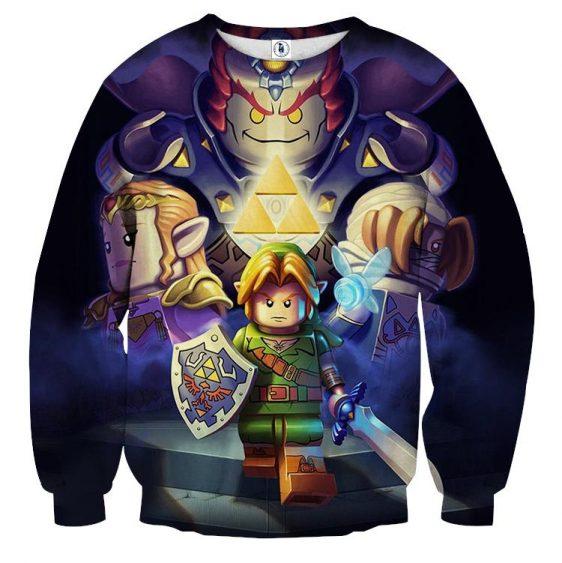 The Legend Of Zelda Link Princess Zelda Ganon Lego Sweater