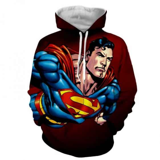 Action Comics Superman On The Way Design Full Print Hoodie