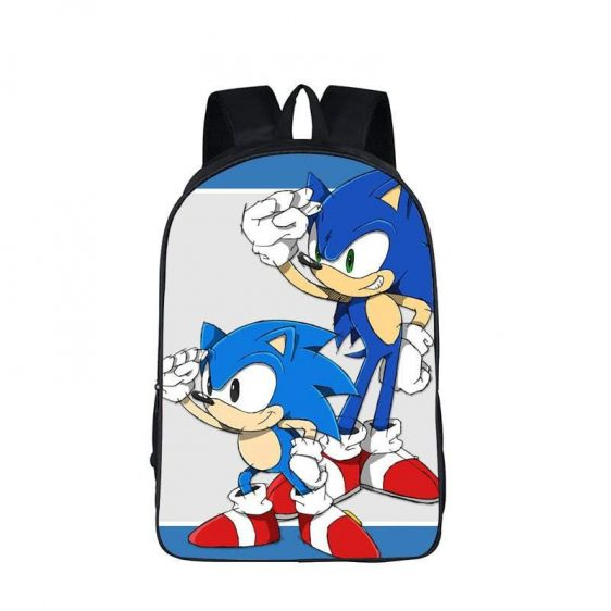 Adorable Sonic And Monty The Hedgehog Backpack Bag