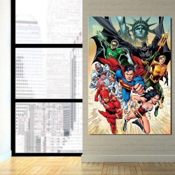America's Superheroes Justice League 1pcs Canvas Print