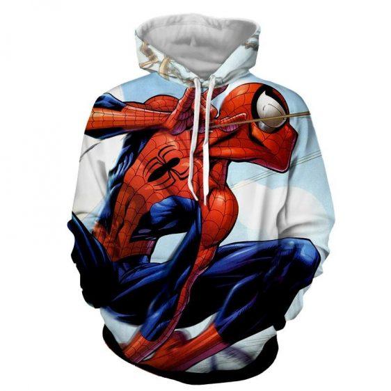 Animated Spider-Man Power Net Design Full Print Hoodie