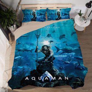 Aquaman Quindent Home Is Calling Underwater Scene Bedding Set
