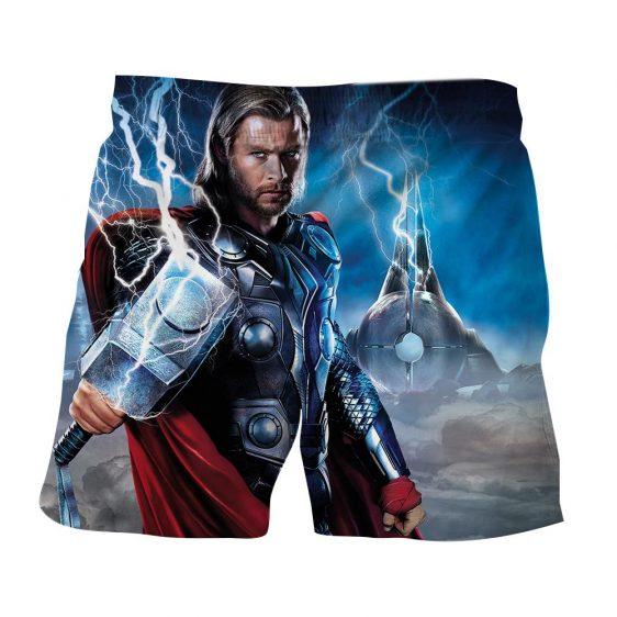 Asgardian God of Thunder Thor Enchanted Hammer Boardshorts