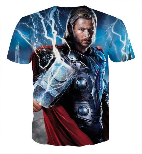 Asgardian God of Thunder Thor Enchanted Hammer T-shirt