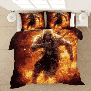 Assassin's Creed Conor in Flame Hell Dope Bedding Set