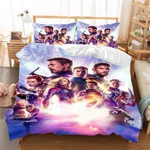 Avengers Endgame Marvel Superheroes Awesome Bedding Set