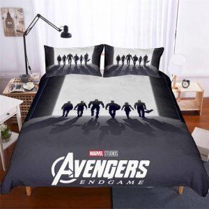 Avengers Endgame Original Six Avengers Silhouette Bedding Set
