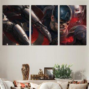 Avengers Age Of Ultron Mad Captain America 3pcs Canvas Print