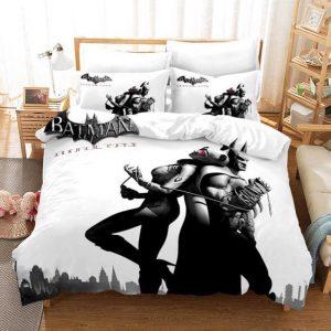 Batman Arkham City Catwoman Seducing Batman Bedding Set