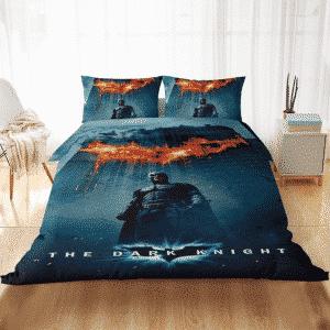 Batman The Dark Knight Flaming Bat-Signal Bedding Set