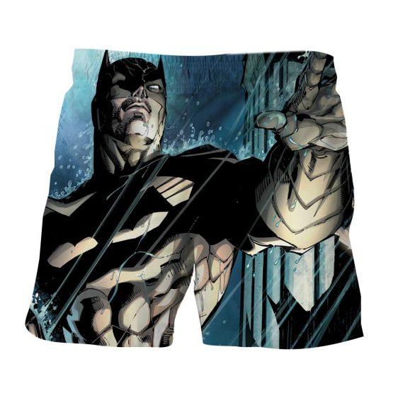 Batman Caught Up Fighting Under The Rain Full Print  Short - Superheroes Gears