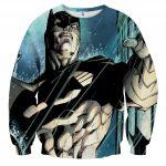 Batman Caught Up Fighting Under The Rain Full Print Sweatshirt - Superheroes Gears