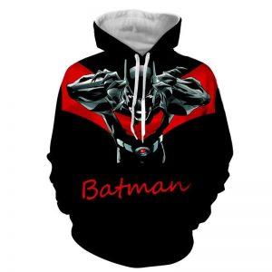 Batman Character With Red Name Label Black Cool Print Hoodie - Superheroes Gears