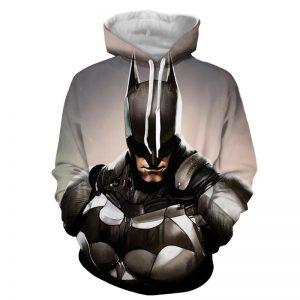 Batman Realistic Half Body Portrait Full Print Hoodie - Superheroes Gears