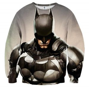Batman Realistic Half Body Portrait Full Print Sweatshirt - Superheroes Gears