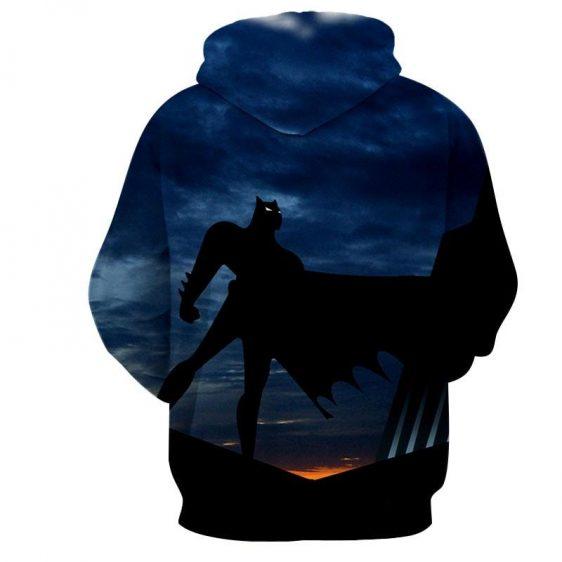 Batman Superhero Silhouette On the Sunset Full Print Hoodie - Superheroes Gears