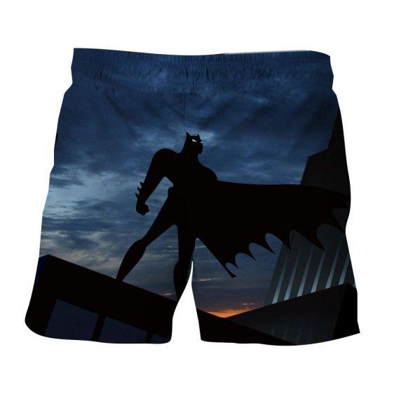 Batman Superhero Silhouette On the Sunset Full Print Short - Superheroes Gears
