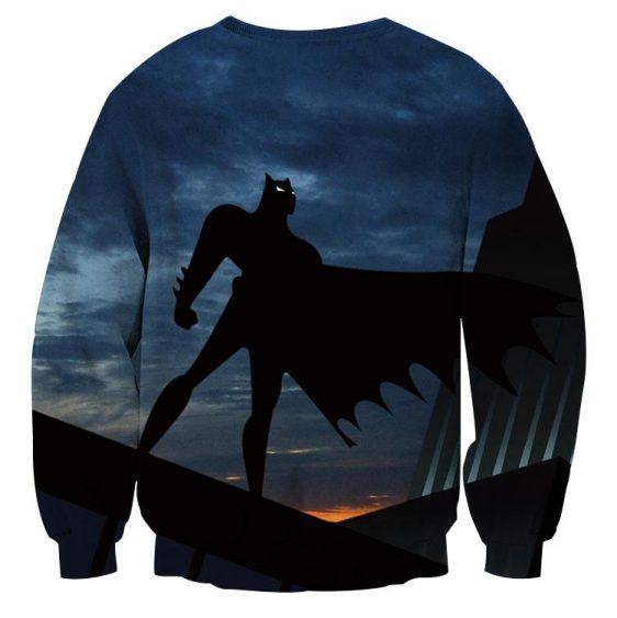 Batman Superhero Silhouette On the Sunset Full Print Sweatshirt - Superheroes Gears