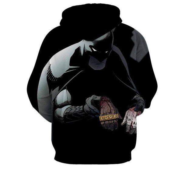 Batman The Black Mask Sorrow With People Full Print Hoodie - Superheroes Gears