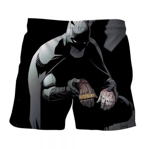 Batman The Black Mask Sorrow With People Full Print Short - Superheroes Gears