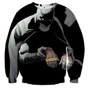Batman The Black Mask Sorrow With People Full Print Sweatshirt - Superheroes Gears