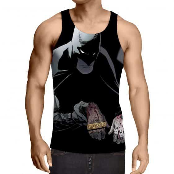 Batman The Black Mask Sorrow With People Full Print Tank Top - Superheroes Gears