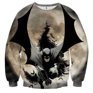 Batman The Dark Knight Ready To Save Full Print Sweatshirt - Superheroes Gears