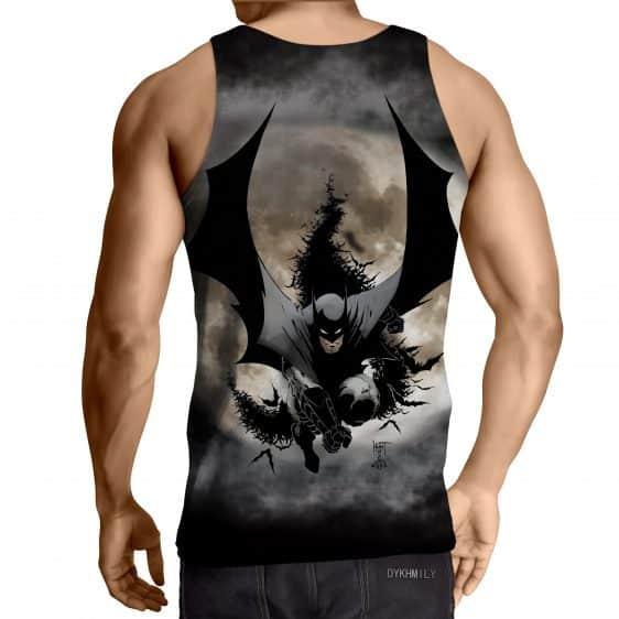 Batman The Dark Knight Ready To Save Full Print Tank Top - Superheroes Gears