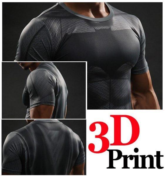 Batman against Superman Compression 3D Workout Short Sleeves T-Shirt - Superheroes Gears