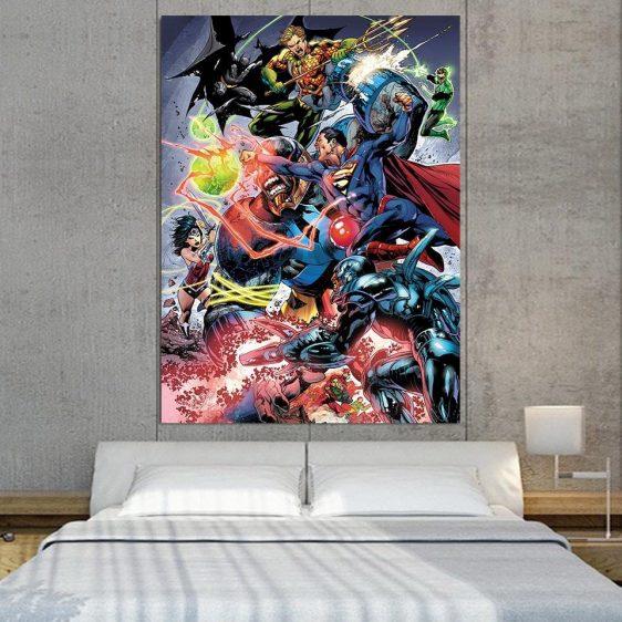 Battle Of The Legends Justice League 1pcs Canvas Print