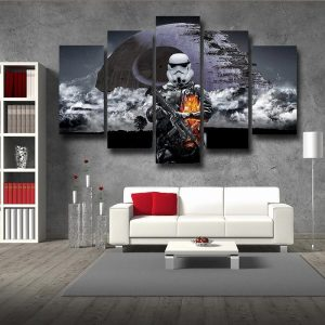 Star Wars Battlefront Storm Troopers Design 5pc Wall Art Canvas