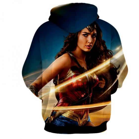 Beautiful Gal Gadot Wonder Woman Holding Golden Lasso Hoodie