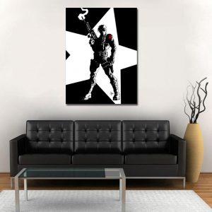 Bucky Barnes The Winter Soldier Black & White 1pc Canvas Art