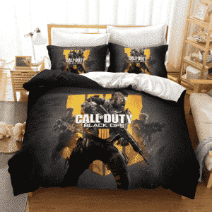 Call of Duty Black Ops 4 Armed Soldiers Ash Gray Bedding Set