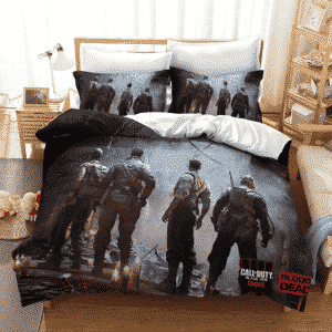 Call of Duty Black Ops Zombies Soldiers Back View Bedding Set