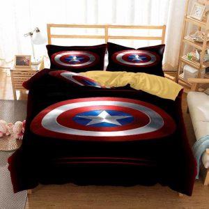 Captain America's Vibranium Shield Black Bedding Set