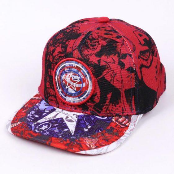 Captain America All Red Funky Swag Streetwear Snapback Hat Cap - Superheroes Gears