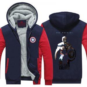 Captain America Hero Poster Dope Full Print Hooded Jacket - Superheroes Gears