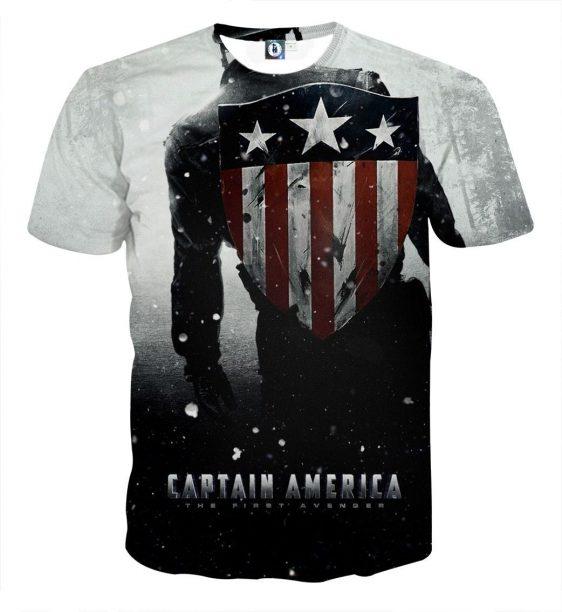 Captain America Leaving The Victorious Battle White T-shirt