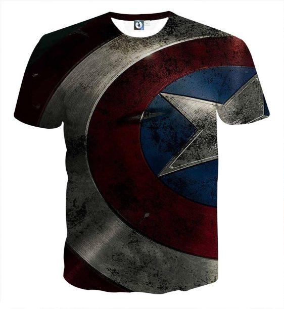 Captain America Powerful Shield 3D Full Print T-shirt