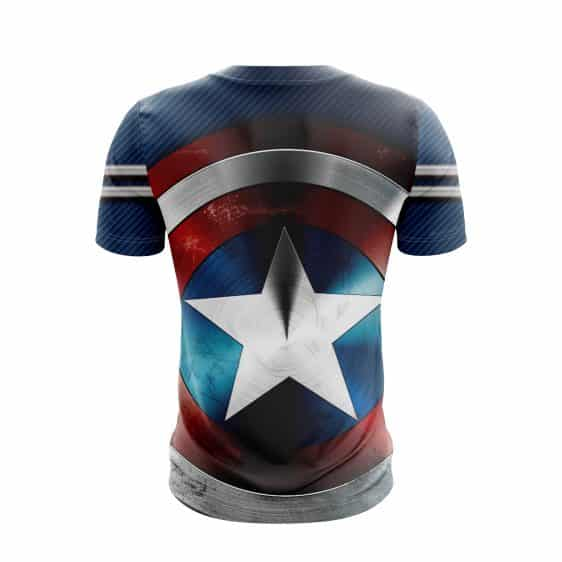 Captain America STRIKE Stealth Blue Suit With Shield T-Shirt