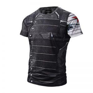 Captain America The Winter Soldier Uniform Design t-Shirt