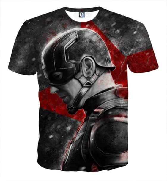 Captain America Vintage Side Pose Cool Portrait T-shirt