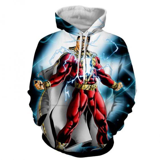 Captain Marvel Superhero Electrifying Fashionable Blue Hoodie