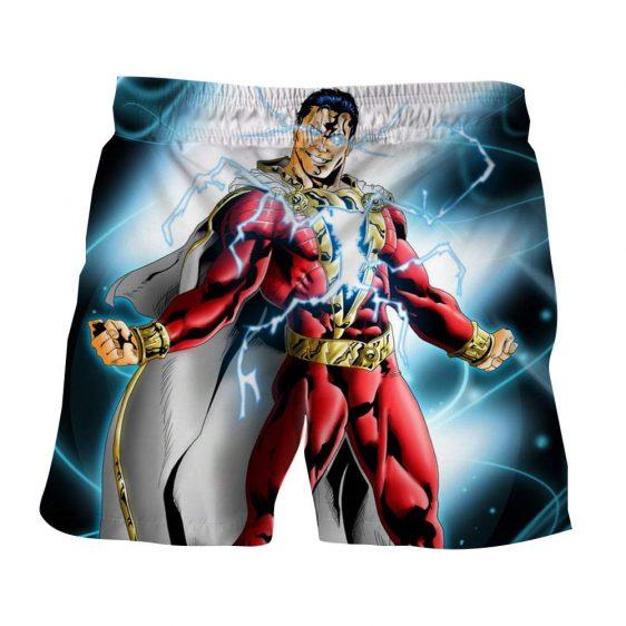 Captain Marvel Superhero Electrifying Fashionable Blue Shorts