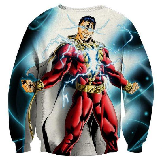 Captain Marvel Superhero Electrifying Fashionable Blue Sweatshirt