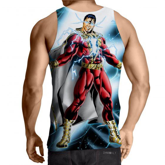 Captain Marvel Superhero Electrifying Fashionable Blue Tank Top