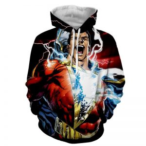 Captain Marvel Superhero Epic Charged Electric Hoodie
