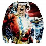 Captain Marvel Superhero Epic Charged Electric Sweatshirt