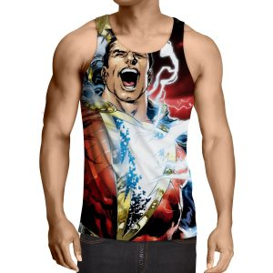 Captain Marvel Superhero Epic Charged Electric Tank Top